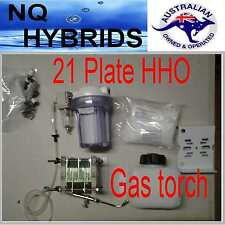 HHO GAS TORCH.. HYDROGEN 21 PLATE  GENERATOR  POWERED KIT