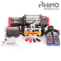 Treuil électriques 12v noir Récupération 4x4 Bateau 4500lb / 2041kg Winch RHINO