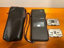 Philips Pocket Memo 585 Handheld Dictaphone With Cassettes And Case from 80's