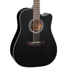 Takamine G Series GD30CE12BLK Dreadnought Acoustic-Electric 12-String Guitar