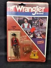 New 1983 ERTL Wrangler Brand Luke The Bronco Buster Vintage Action Figure