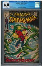 Amazing Spiderman #71 (1969) CGC 6.0; 1st Quicksilver on cover