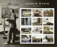 USA 2017 neuf sans charnière Andrew Wyeth 12 V S/A M/S paysages ART PAINTINGS timbres