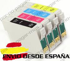 4 CARTUCHOS DE TINTA COMPATIBLE NON OEM PARA EPSON T1811 T1812 T1813 T1814