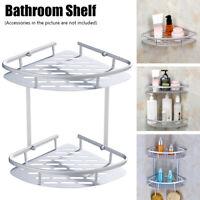 Wall Mounted Corner Storage Rack Bathroom Shelf Shampoo Shower Gel Organizer