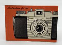 Kodak Camera Pony 135 Manual Model C Owners Operators Book Guide 20-50