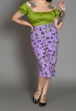 Sold Out Pinup Girl Pinup Couture Eden Monsters Pencil Skirt XS