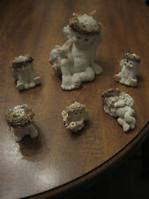 """Dreamsicles Angel Figurines - Large and Small - 1 1/2"""" to 4 1/2"""" High - Lot of 6"""