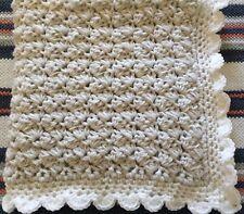 ❤️Hand crocheted baby's Warm Chunky blanket /car seat/pram/crib Grey & White ❤️