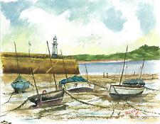 St Ives water colour version 3 print