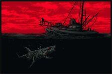 Jaws by Dan Mumford 36x24 Ltd Edition x/185 Print Poster Art Mint Movie Mondo