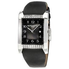 Baume and Mercier Hampton Milleis Opaline Black Dial Ladies Watch 10024
