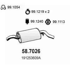 VW Golf II 19E, 1G1 Endschalldämpfer 58.7026