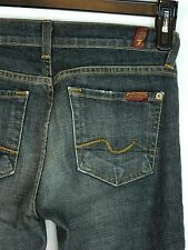 Women's 7 For All Man Kind Jeans 25 x 31 Black Boot cut Jeans