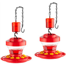 Hummingbird Feeder - First Nature 16 Oz 3091 + Ant Guard & Sewanta Chain- 2 Pack