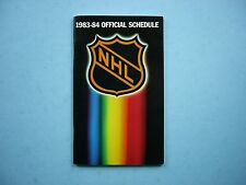 1983/84 NATIONAL HOCKEY LEAGUE NHL HOCKEY SCHEDULE & 1982/83 STATISTICS BOOKLET