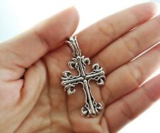 NEW Artisan Sterling Silver 925 Celtic Cross Necklace Pendant Mens Jewelry Charm