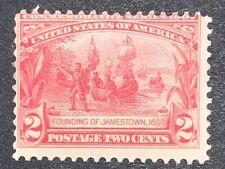 Travelstamps: 1907 US Stamps Scott #329 Founding of Jamestown mint MNHOG