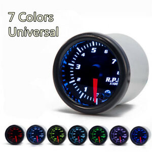 Universal 2 Inch 52mm Car Tachometer Tach RPM Gauge Digital 7 Color LED Display