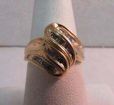 10K Solid Gold Diamond Dinner Ring. Size 7  SALE-SAVE $500  #R201