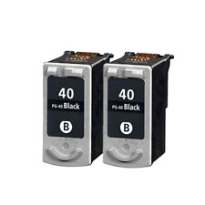 2 Negro Remanufacturado Tinta Para Canon JX200 JX510P MP150 MP160 MP170 iP1200 PG40