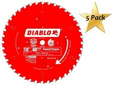 5 Pack Freud D1040X Diablo 10-Inch 40-Tooth ATB General Purpose Saw Blade