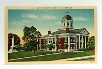Toccoa Georgia Stephens County Court House Linen Vintage Postcard