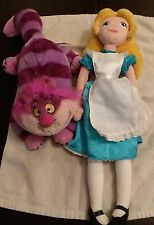 Lot of 2..Plush Alice in Wonderland  And Cheshire Cat