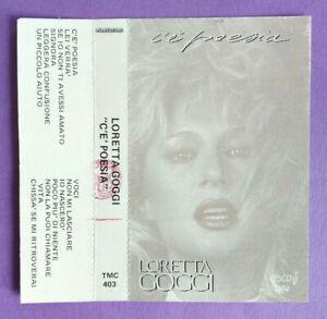 COPERTINA Inlay MC Musicassetta LORETTA GOGGI C'è Poesia Fonit no cd lp vhs dvd