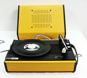 Tragbarer Koffer Schallplattenspieler Vintage 50/60er Jahre französisches Modell