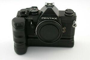 PENTAX MX mechanic + Winder classic analog 35mm small prof. SLR LESEN READ /21