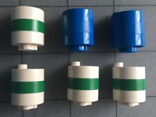 Lot of 6 Lego Duplo Accessories Oil Barrel Gas Can Tank Drum