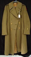 WWII US Army Wool Long Trench Overcoat Coat WW2 Third Army ETO Patches