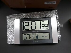 La Crosse Technology Atomic Digital Wall Clock #513-1417 NEW FREE SHIPPING