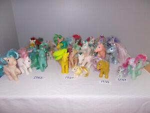 My Little Pony 80s Vintage Lot Of 26 Ponies - 1983 1984 1985 1987 1988 1989 1992