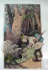 reizende Zeichnung  1941 -  Schwammerlsucher  Pilzesucher - sign FH