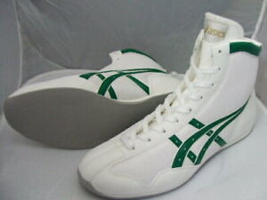 Authentic asics Boxing Shoes Short type White × Green from JAPAN BTO NEW F/S