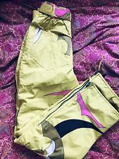 Henri duvillard ladies ski/snowboard trousers yellow with designs Uk10