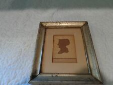 Antique 19th.c Silhouette of a Woman, Signed James Hicks, Ink Drawing