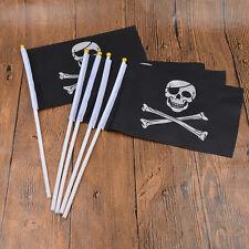 5 Pcs Skull Crossbones Pattern Pirate Flag Jolly Roger Mini Home Decor Gift