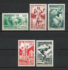 Monaco 1948 Yvert n° 319 à 323 neuf ** 1er choix