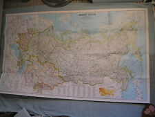 SOVIET UNION RUSSIA USSR MAP National Geographic March 1990 1000 Years Expansion