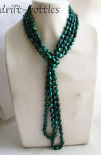 100'' 11MMX8MM Baroque Green Freshwater Pearl Necklace