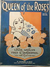 The Queen Of The Roses Was You Sheet Music 1916 Nice To Frame