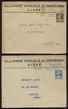 FRANCE COLS.ALGERIA 1926 SOWER +OPTS +PAQUEBOT 2 COVERS