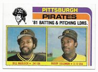 1982 Topps Pittsburgh Pirates Team Set with Traded and Willie Stargell