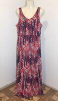 Faded Glory Women's Floor Length Sleeveless Size L Large (12-14) Dress V-Neck