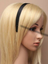 Black Satin Fabric 2cm wide Aliceband Headband / Hairband UK Seller (J026)