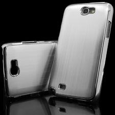 Samsung Galaxy Note II n7100 funda aluminio cepillado-Plata