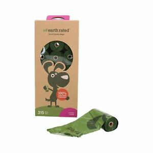 Earth Rated Eco Friendly Lavendar Scented Dog Waste Poo Bags - 315 Bags